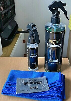Angelwax Vision & H2go Sealant & 3 Microfiber Glass Care Bundle (part Used) • 14.95£