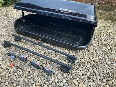 Halfords Black Gloss Exodus Roof Box And Roof Bars • 35£