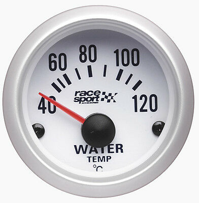 Sumex Branded 52mm Diameter 12V Car Water Thermometer Gauge Dial - Satin Silver • 28.99£