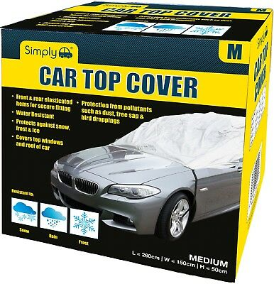 Simply Water Rain UV Sun Frost Resistant Fully Breathable Car Top Cover - Medium • 10.99£
