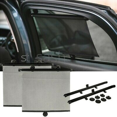 2 X 55cm Car Window Sun Shade Auto Roller Blind Screen Protector Protection Kids • 7.99£