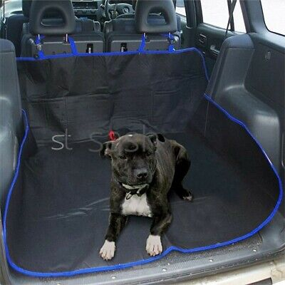 Blue 2 In 1 Waterproof Car Rear Back Seat Cover Pet Dog Protector Boot Mat Liner • 6.95£