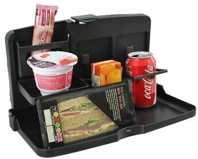 Car Seat Tray & Food Drink Holder Travel Table Picnic Compact Foldable • 7.99£