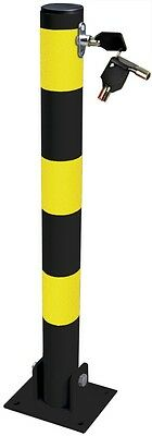 Home Shop Driveways Folding Fold Down Security Parking Post With Lock & Bolts • 23.95£