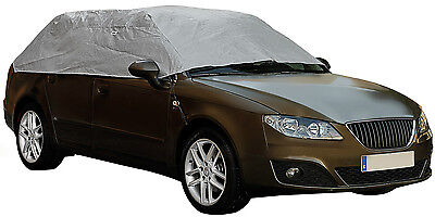 Sumex Waterproof & Breathable Weather Frost Protection Car Half Top Cover MEDIUM • 19.99£