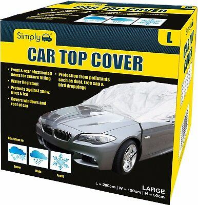 Simply Water Rain UV Sun Frost Resistant Fully Breathable Car Top Cover - Large • 11.99£