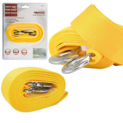 4m Heavy Duty Car Tow Rope With Hooks 2.5 Tons Recover Emergency Cable Van New • 5.95£