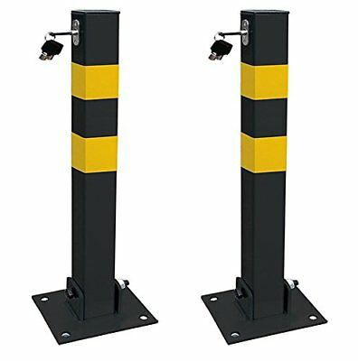 2 X Streetwize Security Theft Square Folding Parking Post With Keys Lock & Bolts • 39.99£