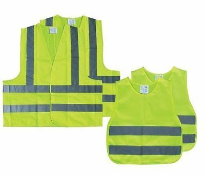 AA. Family High Visibility Vest Jacket Pack 2 Adults 2 Children Breakdown Safety • 12.99£