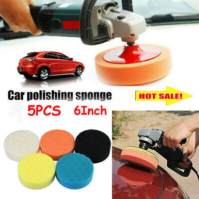 Car Foam Polishing Pads Kit Auto Buffing Pads Sponge For Drill 6 Inches 5 Pcs • 6.69£