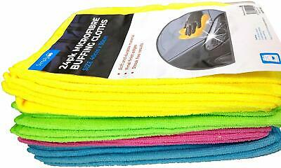 24 Pack Of Microfibre Buffing Polish Wax & Cleaning Cloths For Home Caravan Car • 10.99£