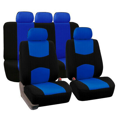 Blue Car Seat Covers Protectors Universal Washable Dog Pet Full Set Front Rear • 13.85£