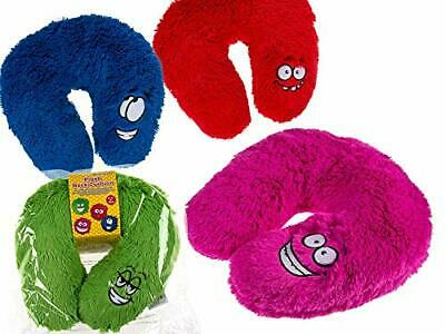 Fun Neck Cushion- Plush Neck Pillow With Cute Face - Perfect For Travels • 8.59£