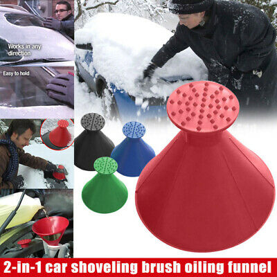 MAGICAL CAR ICE SCRAPER Snow Remover Tool Shaped Round Funnel Cone NEW UK • 2.59£