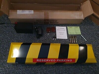 Uk Seller Remote Controlled Parking Barrier 14kg Steel Chevron Pattern Automatic • 135£