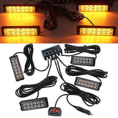 4x12 LED Car Roof Recovery Light Bar Amber Warning Strobe Flashing + Control Box • 26.95£