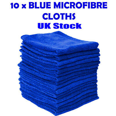 Uk 10 Large Microfibre Cleaning Auto Car Detailing Soft Cloths Wash Towel Duster • 4.99£