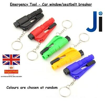 2 In 1 Car Window Glass Seat Belt Breaker Keyring Emergency Safety Escape Tool  • 49.99£