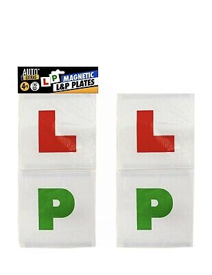 4pc Magnetic 'L' & 'P' Plates For Learner And New Car/Bike Drivers • 1.50£