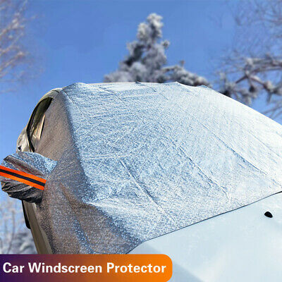 Universal Car Windscreen Thick Ice Frost Cover Shield Snow Protector Waterproof • 9.99£