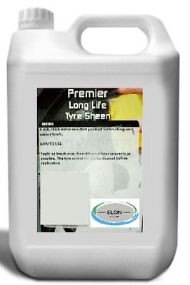 5 Litre Tyre Shine Sheen Dressing Long Wet Silicone Look Valeting Premier Shine  • 16.99£