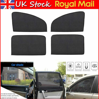 Magnetic Sun Shade UV Protection Curtains Car Windows Mesh (Frontx2+Rearx2) #SO7 • 8.75£