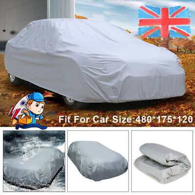 1x Universal Full Size L Car Cover UV Protection Waterproof Breathable Large • 16.95£
