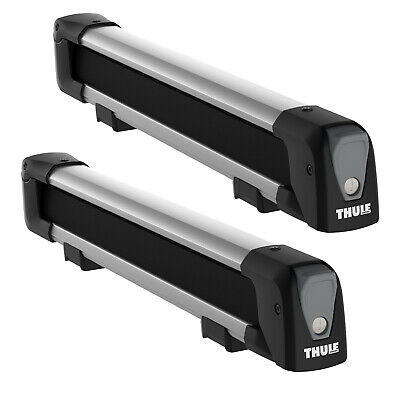 New Thule 7324 SnowPack M Silver 4 Ski Carrier Roof Mounted T Track Fits WingBar • 146.95£