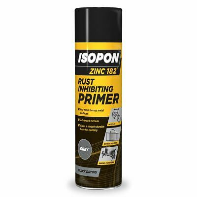Isopon Zinc 182 Anti-Rust Surface Primer Aerosol Spray Fast Drying - 450mL • 9.99£