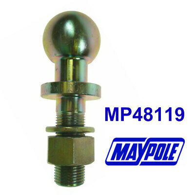 MAYPOLE Threaded Tow Ball (Short Series) 50mm With 19mm - 3/4  Shank MP48119 • 14.08£