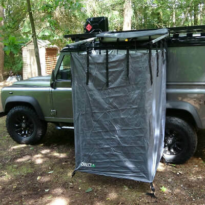 Overland Expedition Fold-Out Shower Privacy Curtain Side Box In Granite Grey • 219.99£