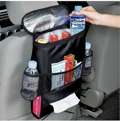 Car Seat Back Storage Bag Multiple Pocket Organiser With Hot & Cool Compartments • 3.99£