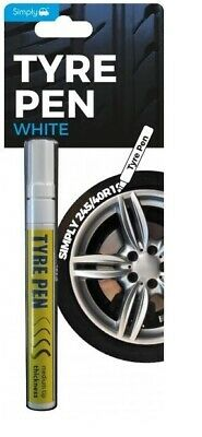 Simply Tyre Marker Pen White - Free Delivery For Styling Tyres Outer Look • 6.49£