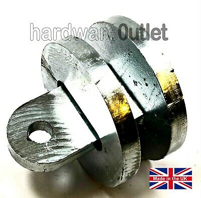 3  GALVANISED Round Security Hitch Lock Super Strong 10mm Steel NO PADLOCK Inc • 16.45£