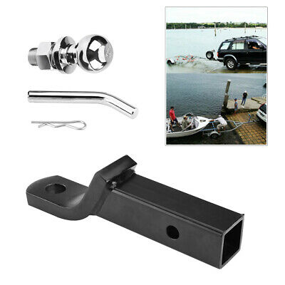 2Inch/50mm Trailer Ball Mount Tongue Hitch Receiver For Towing Towbar Caravan TS • 22.30£
