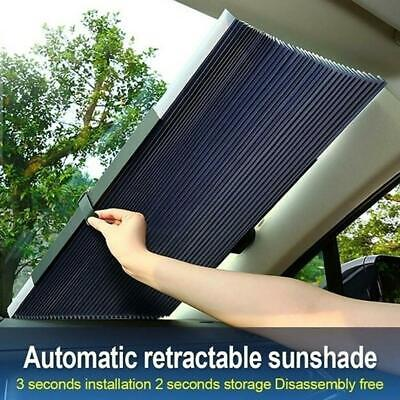 Auto Retractable Car Windshield Sun Shade Curtain UV Protection Sun Visor Cover • 6£