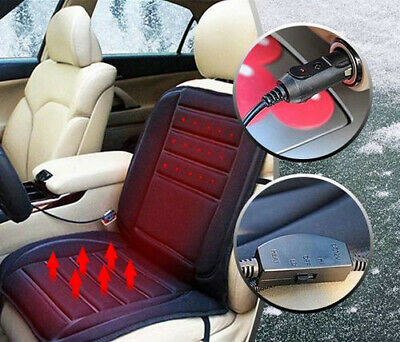 Universal 12V Car Seat Pad Cushion Cover Heating Heater Warm Heated Cold Winter • 12.99£