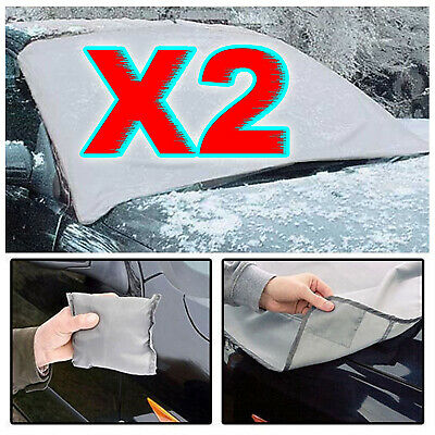 2 X Magnetic Car Windscreen Cover Ice Frost Shield Snow Protector Sun Shade Van • 5.99£