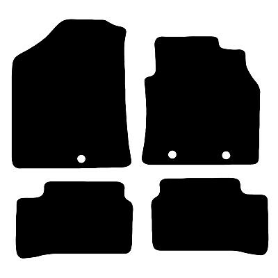 Hyundai I10 2014 - On > Tailored Black Car Floor Mats Carpets 4pc Set With Clips • 11.85£