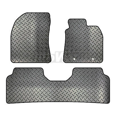 Toyota Avensis 2009 - 2011 Tailored 3 Piece Rubber Car Mat Set 2 Round Clips • 17.05£