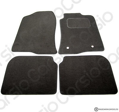Toyota Avensis 2003 To 2009 Tailored Black Car Floor Mats Carpets 2 Holes • 11.85£