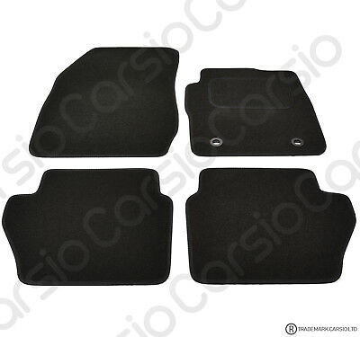 Ford Fiesta 09 To 2012 MK7 Tailored Black Car Floor Mats Carpets 4pc Oval Clips • 11.85£