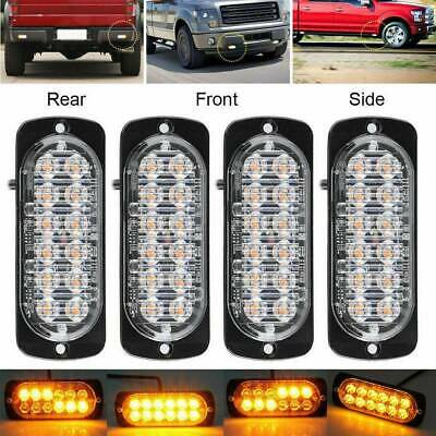 4X 12LED Amber Emergency Flashing Strobe Light Truck Car Recovery Beacon Lamp UK • 11.99£