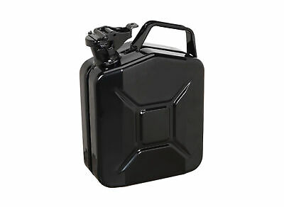 5 Litre Metal Jerry Can - Black - For Fuel Petrol Diesel Etc • 14.90£