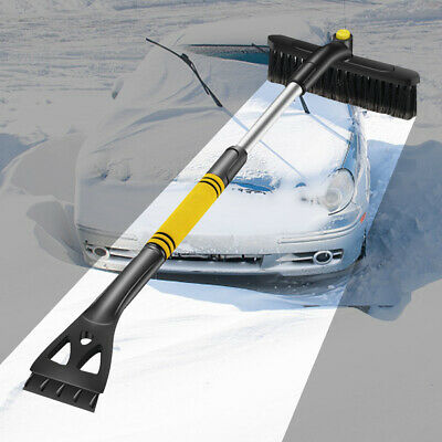 Telescopic Swivel Snow Brush + Ice Scraper - Squeegee Car Removal Tool Cleaning • 11.48£