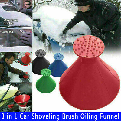 Magical Car Windshield Ice Snow Remover Scraper Tool Cone Shaped Round Funnel • 3.99£