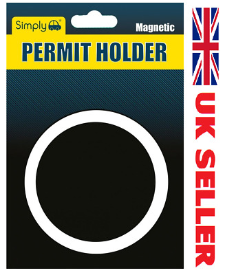 Fully Magnetic Parking Permit Holder For All Car Van Lorry Windscreen - Black  • 1.39£