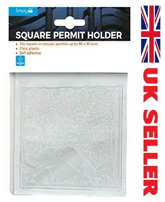 Stick On Square Parking Permit Holder For All Car Van Lorry Windscreen  • 2.49£