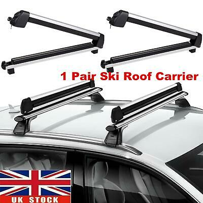 Universal Ski Snowboard Roof Rack Carriers For 6 Pair Skis Or 4 Snowboards • 49.22£