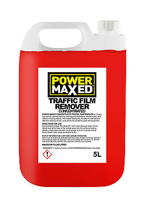 Power Maxed Traffic Film Winter Salt Remover 5 Litre Concentrate Dilute 50:1 • 13.49£